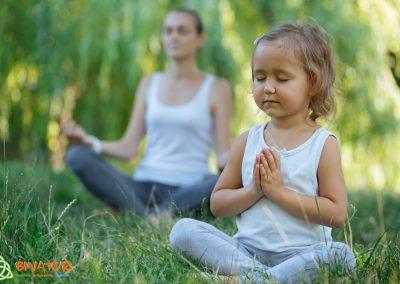 Meditación en familia